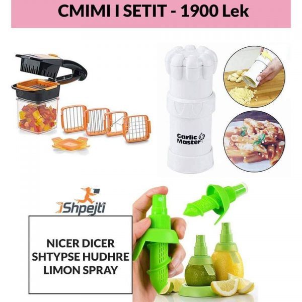 Nicer dicer & Lemon Spray & Garlic Master
