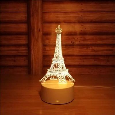Drite Nate 3D Me Kullen Eiffel